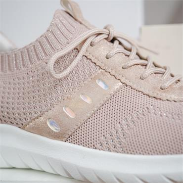Remonte Lite Knitted Laced Trainer - Rose