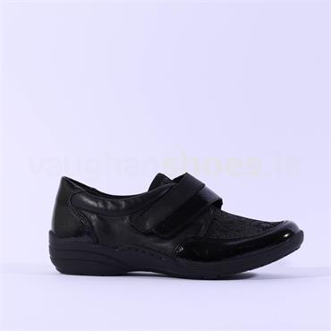 Remonte Shoe Velcro Strap Cristallino - Black Print