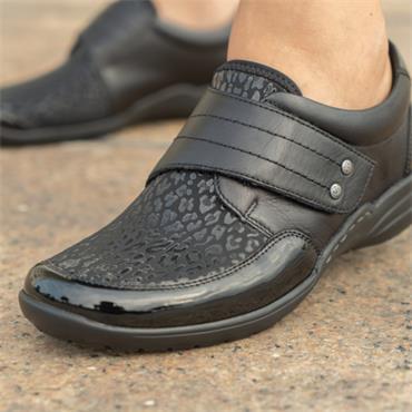 Remonte Shoe With Velcro Strap Lagro - Black Combi