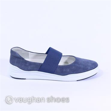 Regarde Le Ciel Slip On Stretch Band - Navy