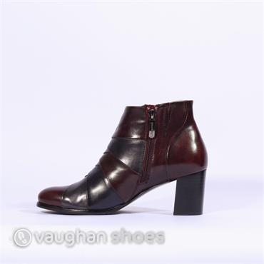 Regarde Le Ciel Crossover Mid Heel Boot - Wine/multi