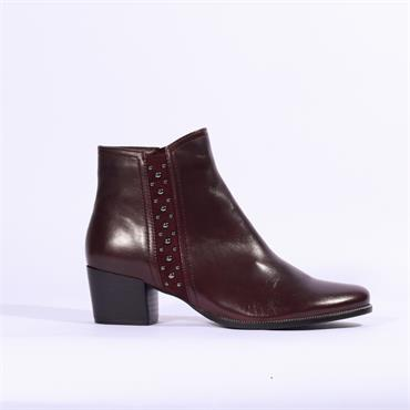 Regarde Le Ciel Stud Gusset Boot Isabel - Bordo