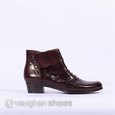 Regarde Le Ciel Low Heel Folded Leather - Bordo