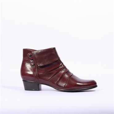 Regarde Le Ciel Folded Stud Boot Stefany - Wine Soft Leather