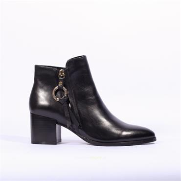 Regarde Le Ciel Ring Zip Boot Taylor - Black Soft Leather