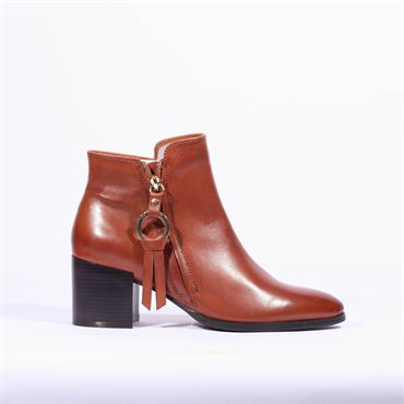 Regarde Le Ciel Ring Zip Boot Taylor - Tan Soft Leather