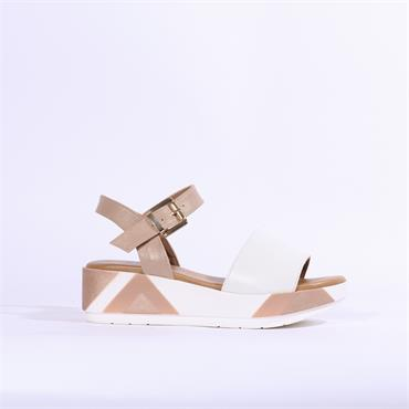 Repo Chunky Sole Platform Sandal - Beige Combi
