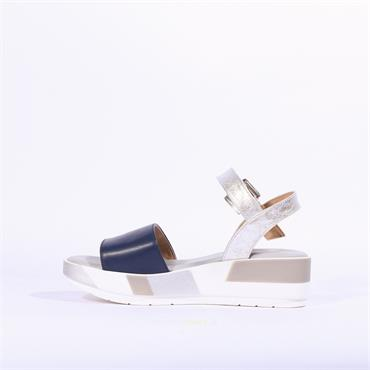 Repo Chunky Sole Slingback Sandal - Navy Silver Combi