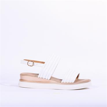 Repo Pipe Style Slingback Sandal - White