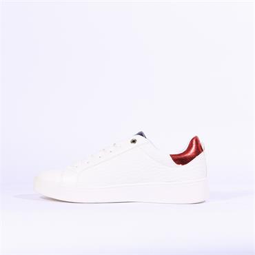 Sprox Weave Detail Casual Trainer - White Combi
