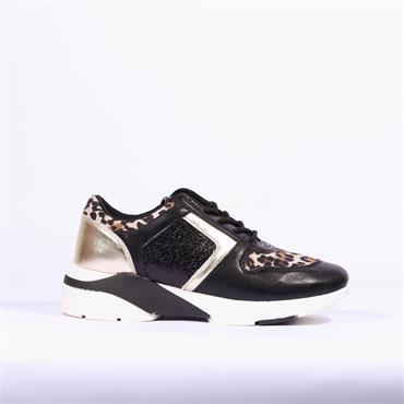 Sprox Casual Laced Trainer - Black Combi
