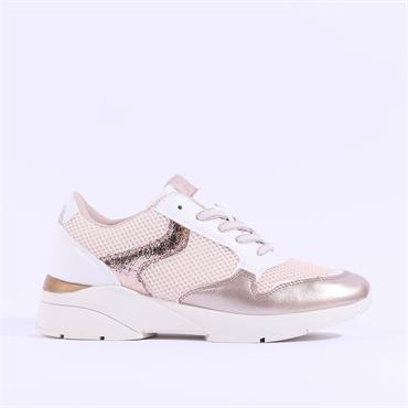 Sprox Mesh Wedge Laced Trainer - Rose Combi