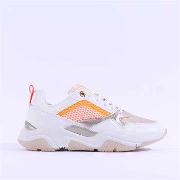 Sprox Chunky Sole Lace Trainer - White Orange