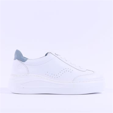Unisa Chunky Sole Lace Trainer Fariza - White Blue Leather