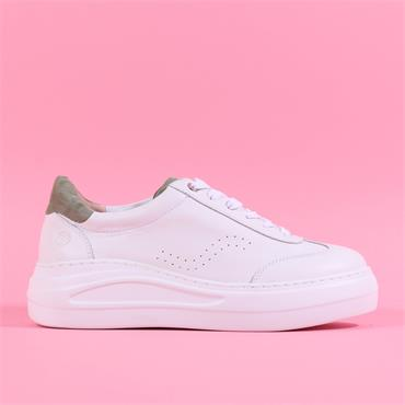 Unisa Chunky Sole Lace Trainer Fariza - White Green Leather