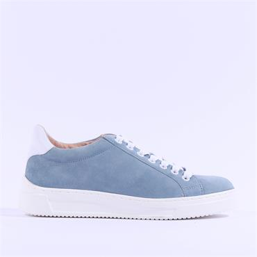 Unisa Fasnia Suede Casual Laced Trainer - Light Blue