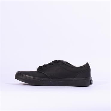 Vans Atwood Black Leather Laced - Black