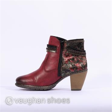 Rieker Boot With Strap Detail MOMBASA - Wine