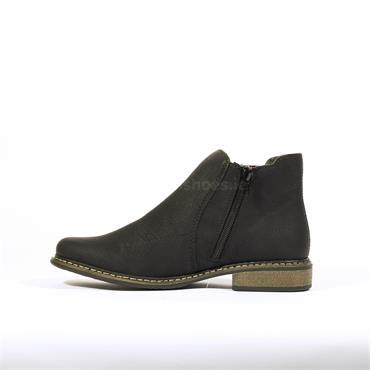 Rieker Namur Flat Gusset Boot - Black