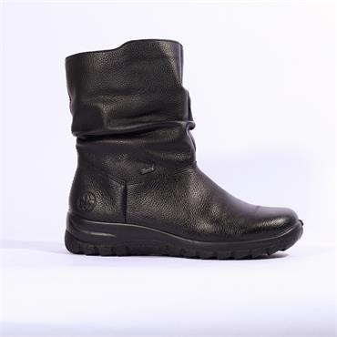 Rieker Mason  Wedge Fur Lined  Tex - Black