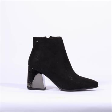 Zanni & Co Block Heel Boot Keyfoun One - Black Combi