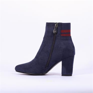 Zanni & Co Yanta One Stripe Cuff Boot - Navy