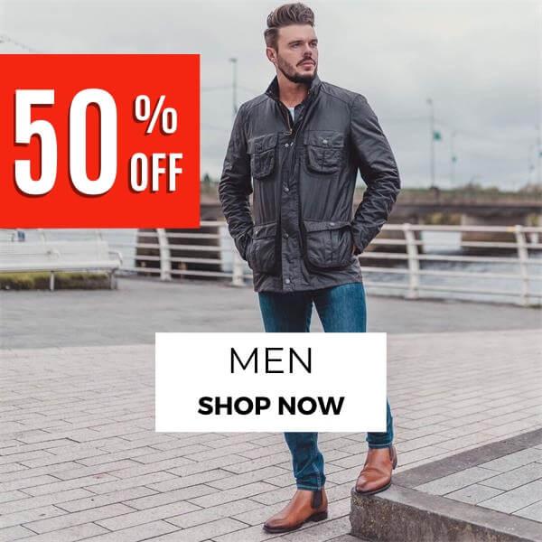 50 OFF Men