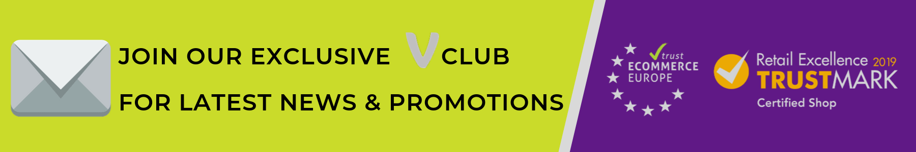 SIGN UP NOW TO BECOME A MEMBER OF OUR V-CLUB