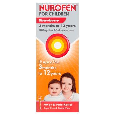 NUROFEN FOR CHILDREN 3+MONTHS STRAWBERRY 200ML WSPOON