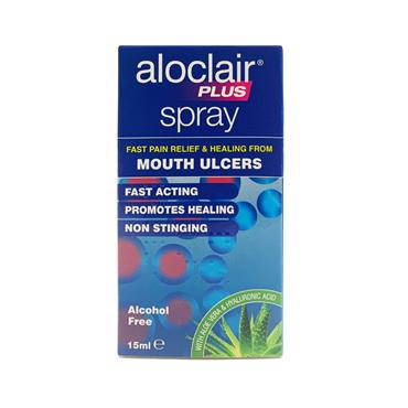 ALOCLAIR PLUS SPRAY FOR MOUTH ULCERS 15ML