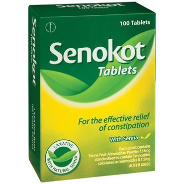 SENOKOT 7.5MG TABLETS 100S