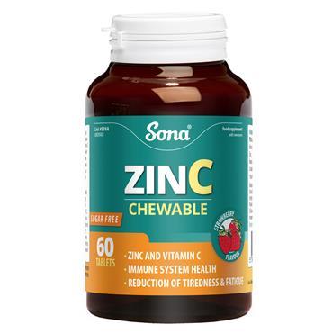 SONA ZINC CHEWABLE  60 TABLETS S39A