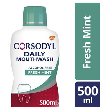 CORSODYL DAILY COOL MINT MOUTHWASH 500ML