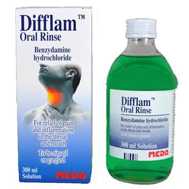 DIFFLAM ORAL RINSE 0.15% GARGLE