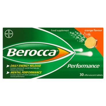 BEROCCA PERFORMANCE EFFERVESCENT ORANGE 30 TABS