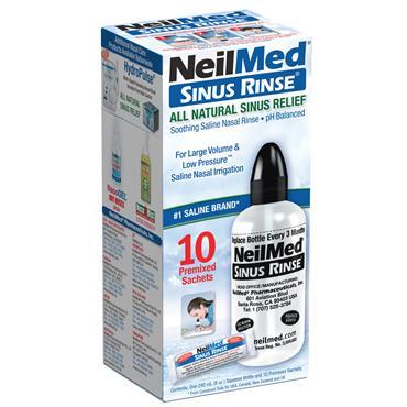 NEILMED SINUS RINSE STARTER KIT BOTTLE AND 10 SACHETS
