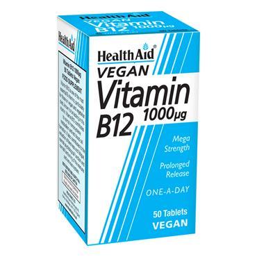 HEALTHAID VITAMIN B12 1000IU 50S