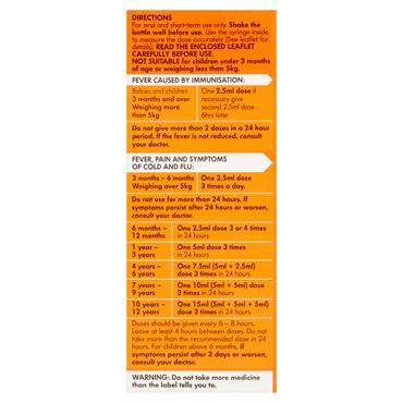 NUROFEN FOR CHILDREN 3+MONTHS STRAWBERRY 150ML WSYRINGE