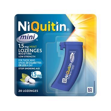 NIQUITIN MINI 1.5MG LOZENGES 20
