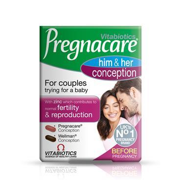 VITABIOTICS PREGNACARE HIM AND HER CONCEPTION 30 TABS