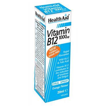 HEALTH AID VITAMIN B12 20ML SPRAY