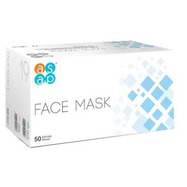FACE MASK 3 PLY WITH EAR LOOP 50 PACK