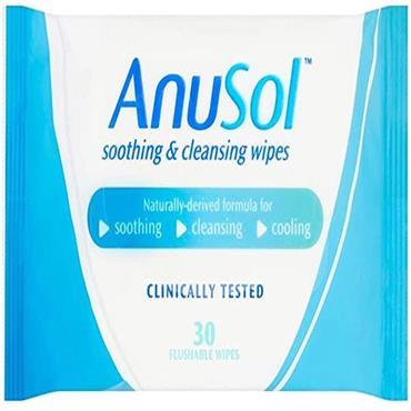 ANUSOL SOOTHING CLEANSING FLUSHABLE WIPES 30S