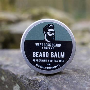 WEST CORK BEARD COMPANY BEARD BALM PEPPERMINT AND TEA TREE 30ML