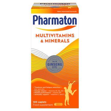 PHARMATON MULTIVITAMIN CAPLETS 100CAP