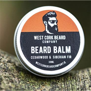 WEST CORK BEARD COMPANY BEARD BALM CEDARWOOD AND SIBERIAN FIR