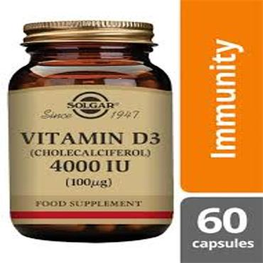 SOLGAR VITAMIN D3 4000IU TABLETS 60