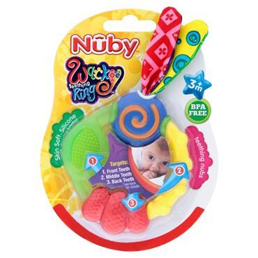 Nuby Wacky Teething Ring 3M+