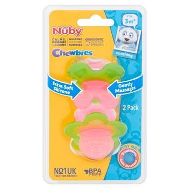 Nuby Chewbies Girl Teether 3M+