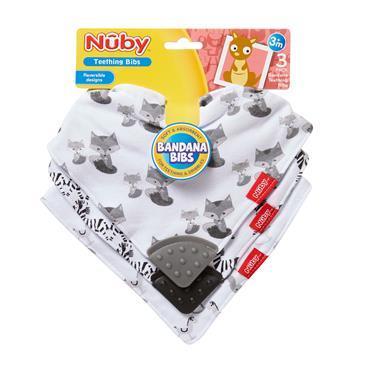 Nuby Bandana Teether Bibs For teething & dribbles 3m+